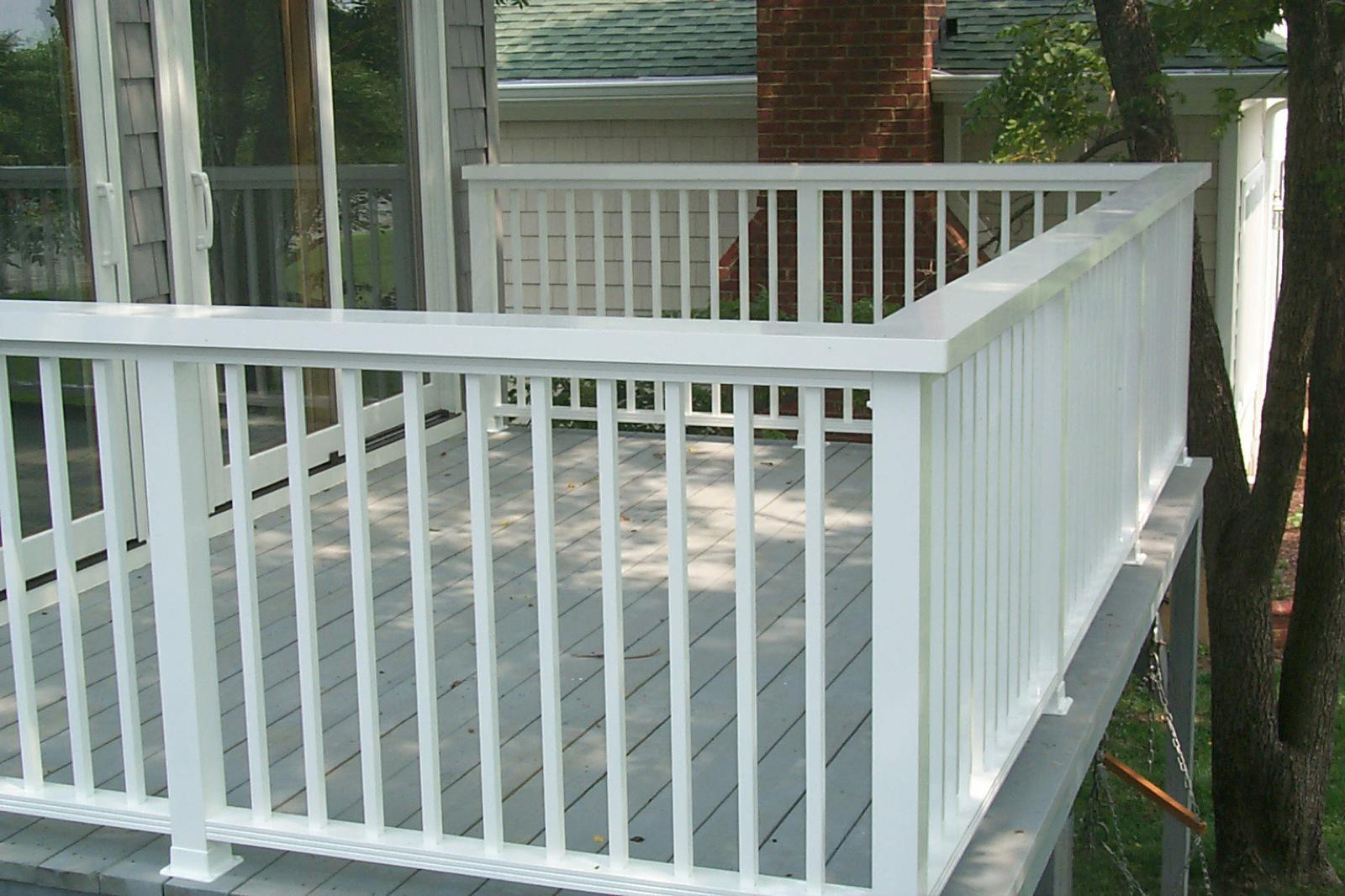Greendale railings deck 68 balcony rail with 6 wide flat top and 3 posts baanklon Gallery